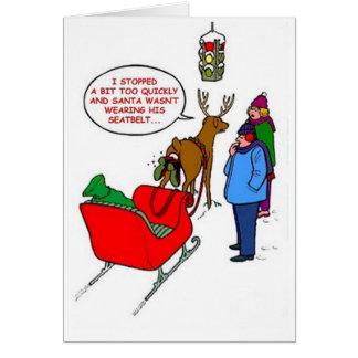 Santa klibbade i Rudolf Hälsningskort