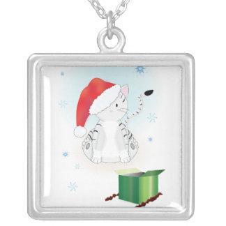 Santa klöser halsbandet silverpläterat halsband