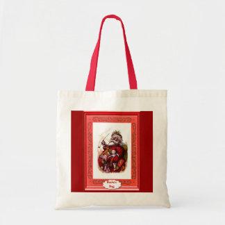 Santa med dockor tygkasse