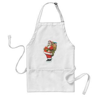 Santa med presenter förkläde