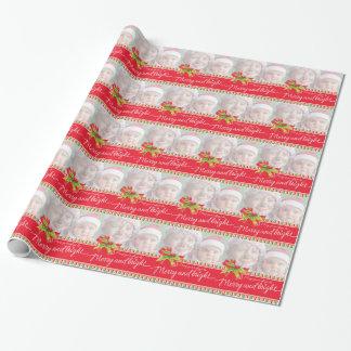 Santa med sjalen för helgdag för gåvakonstjul presentpapper