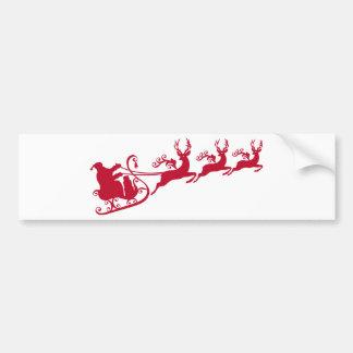 Santa med sleighen och renen, jul planlägger bildekal