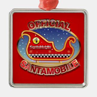 Santa-Mobil - den Reindeerless sleighen Julgransprydnad Metall