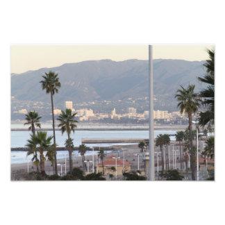 Santa Monica fjärd Fotografiskt Tryck