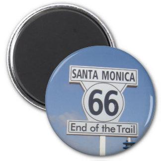 Santa Monica Kalifornien - RT 66 Magnet