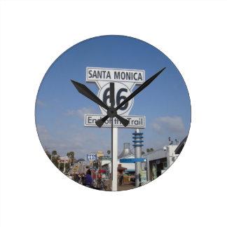 Santa Monica Kalifornien - RT 66 Rund Klocka