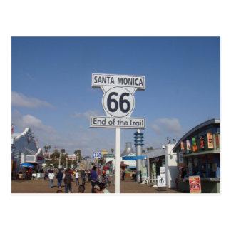 Santa Monica Kalifornien - RT 66 Vykort