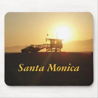 Santa Monica på solnedgången Musmatta