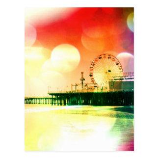 Santa Monica pir - brista färgfotoet redigera Vykort