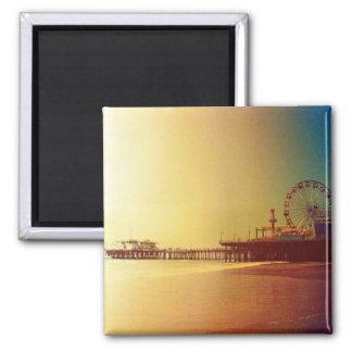 Santa Monica pir - det orange soluppgångfotoet