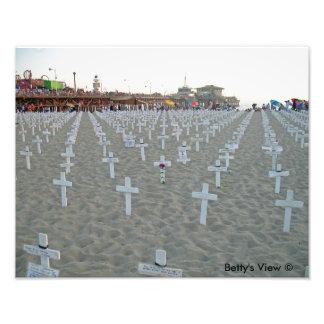 Santa Monica pirIrak minnesmärke Fototryck