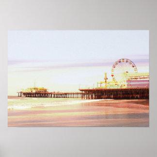 Santa Monica pirsoluppgång Poster