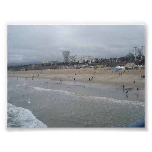 Santa Monica strand Fotografi