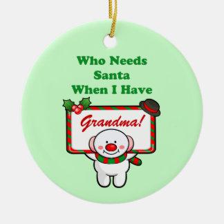 Santa mormor (anpassadet) julgransprydnad keramik