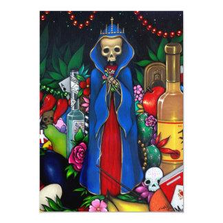 Santa Muerte INBJUDANday of the dead 12,7 X 17,8 Cm Inbjudningskort