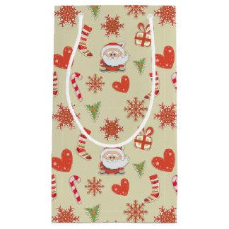Santa och candy cane - gåvan hänger lös