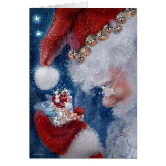 Santa och fehelgdagkort hälsningskort
