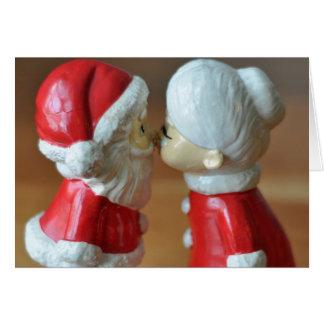 Santa och Fru Claus Hälsningskort