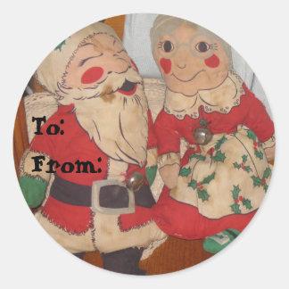 Santa och Fru Claus Klistermärke