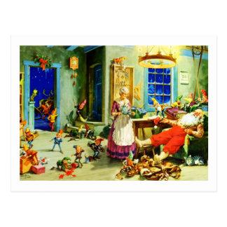 Santa och Fru Claus Koppla av julnatt Vykort