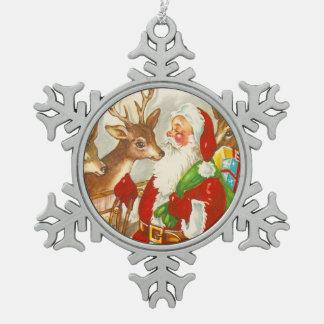 Santa och hans älskade ren julgranskula