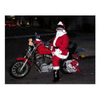 Santa och hans bike23 vykort