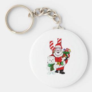 Santa och Pals Rund Nyckelring