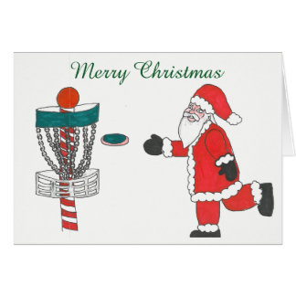 Santa orsakar att leka diskettgolfjulkortet hälsningskort