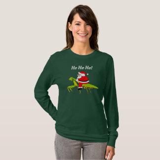 Santa på den roliga julT-tröja för bönsyrsa Tee Shirt