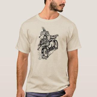 Santa på en motorcykeltröja tshirts
