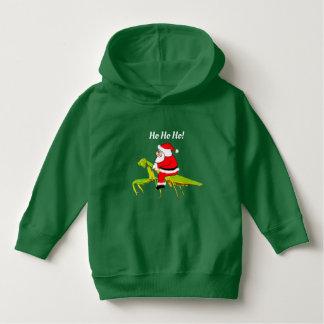 Santa på hoodien för bönsyrsasmåbarnjul tee shirts