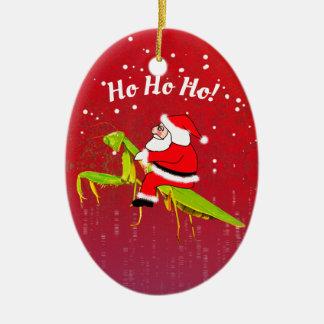 Santa på rolig julaftonprydnad för bönsyrsa julgransprydnad keramik