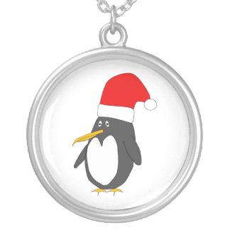 Santa pingvinhalsband silverpläterat halsband