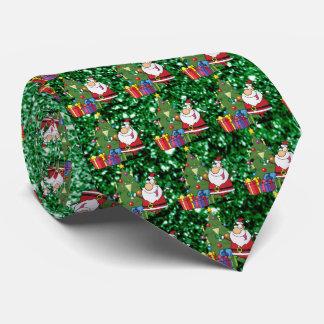 Santa & presenter görar grön Fauxglitter Slips