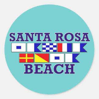 Santa Rosa strandklistermärke Runt Klistermärke