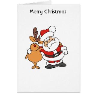 Santa - Rudolf - 001 Hälsningskort