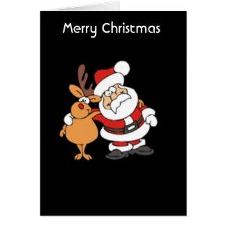 Santa - Rudolf Hälsningskort