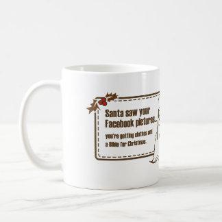 Santa sågar din Facebook… Kaffemugg