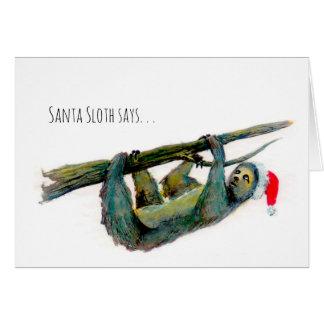 Santa Sloth: Lycklig försenad jul! Hälsningskort