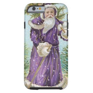 Santa som bär en julgran tough iPhone 6 fodral