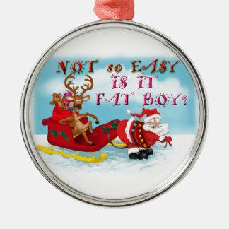 Santa som drar renen! julgranskula