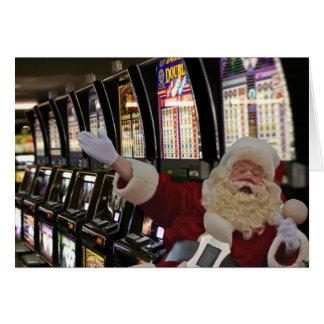 Santa som leker springajulkortet kort