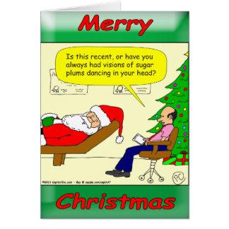 Santa spenderar tid med hans vän terapeuten hälsningskort