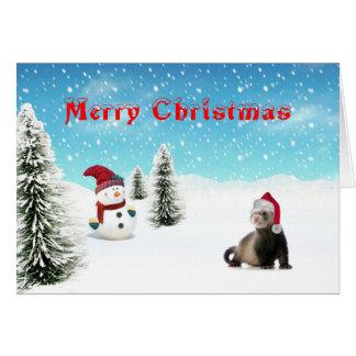 Santa vesslakort hälsningskort