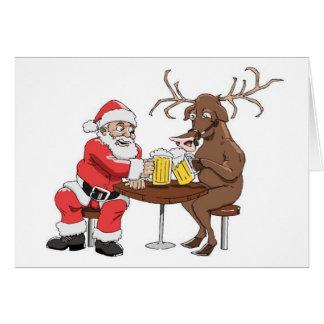 Santa vet hur man festar hälsningskort