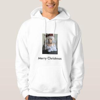 santas ansikte, god jul hoodie