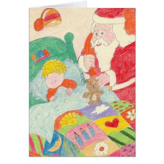 Santas besök hälsningskort