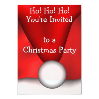 Santas Claus hattinbjudan 12,7 X 17,8 Cm Inbjudningskort