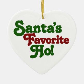 Santas favorit ho hjärtformad julgransprydnad i keramik