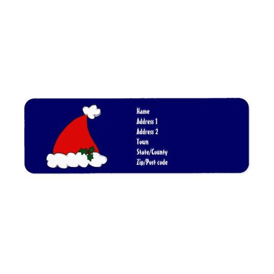Santas hatt returadress etikett
